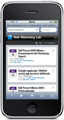 Web Marketing Lab per iPhone